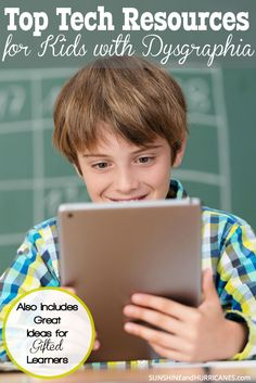Do you have a a fast paced, gifted learner? These resources not only help kids with fine motor delays, they're also excellent for advanced readers and children identified as gifted. Read how technology can help your family overcome obstacles and achieve goals! Dysgraphia and Kids – Top Tech Resources