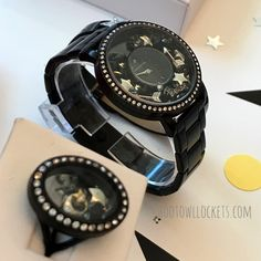 Black Locket Watch and Locket Ring by Origami Owl. New this fall