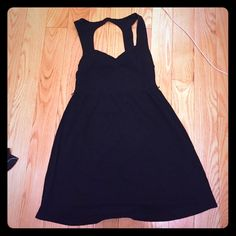 Black skater skirt SZ S Black forever 21 skater skirt. In good used condition. Belt that came with the dress was lost so the price reflects that. Please make an offer, prices are negotiable. Forever 21 Dresses