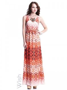 Westward Maxi Dress by WISH.  I love the cut at the top of this dress and the colours are my summer faves.  This one would fit into my wardrobe perfectly!