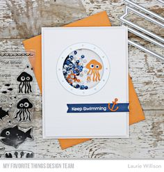 Handmade card from Laurie Wilson featuring products from My Favorite Things #mftstamps