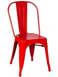 Un delizioso stile vintage industriale per questa fantastica sedia, sobria e gradevole, con struttura in metallo verniciato. Robusta, forte e maneggevole, dalla linea giovane e dinamica, si adatta perfettamente agli ambienti moderni. Disponibile nei colori: bianco, rosso, nero, arancio, verde, blu, grigio e giallo.