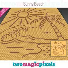 Two Magic Pixels - Beautiful graphs for crochet, cross stitch and other crafts Beach Crochet, C2c Crochet, Crochet For Kids, Crochet Cross, Happy Birthday Dragon, Crochet Disney, Diamond Paint, Kids Blankets, Chip And Dale