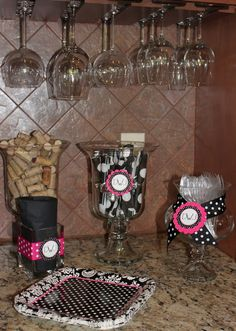 "Photo 1 of 20: Hot pink and Black Polka Dots / Bridal/Wedding Shower ""Dana's Bridal Shower"" 