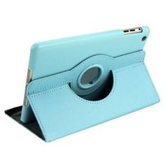 360 Degree Rotating PU Leather Flip Stand Case Cover Skin for iPad Mini Sky Blue