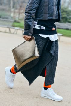 Metallic folio | Tommy Ton Shoots the Best Street Style at the Couture Shows - Gallery - Style.com