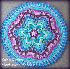 Ravelry: Starflower Mandala pattern by zelna olivier