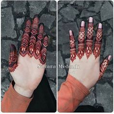 Finger details Which is your fav - 1 or Henna Artist: Finger Henna Designs, Henna Art Designs, Stylish Mehndi Designs, Dulhan Mehndi Designs, Mehndi Designs For Fingers, Mehndi Design Pictures, Beautiful Mehndi Design, Latest Mehndi Designs, Mehandi Designs