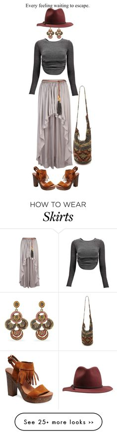 """Maxi skirt"" by beachan on Polyvore"