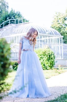 Making my dreams come true - Pink Wish Blue Tulle Skirt, My Dream Came True, Princess Wedding Dresses, Wish, Lace, Skirts, How To Wear, Collection, Style