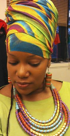Colorful turban aka head wrap. By #WrapStar
