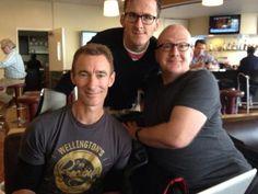 Jed Brophy (Nori), Adam Brown (Ori) and Peter Hambleton (Gloin)