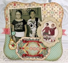 6 x 6 Scrapbook page designed by Sharon Harnist