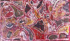 Tableau abstrait technique mixte huile et acrylique. Couleurs rouge, brun, noir, blanc, doré... Toile coton sur chassis épaisseur 4 cm. Dimensions 100 X 60 cm. Tableau vernis - 18187714