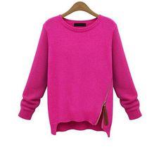 34,90EUR Pullover Strickpullover pink mit Reissverschluss