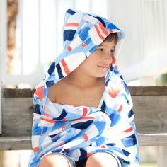 CHILDREN/'S HOODED TOWEL large monogram oversize fabric monogram