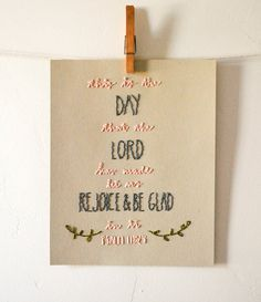 This is the Day Stitched Artwork. $20.00, via Etsy.