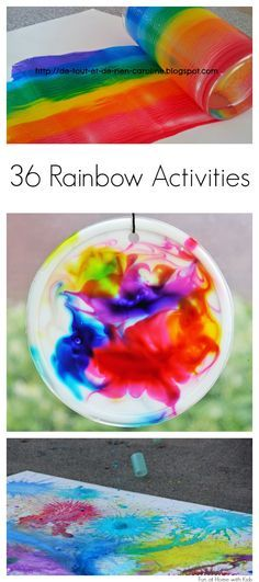36 Beautiful Rainbow Activities for kids of all ages - babies and toddlers included!  From Fun at Home with Kids