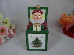 Spode Christmas Tree Hand Painted Jack in the by SecondWindShop, $17.50