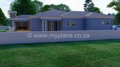 3 Bedroom House Plan – My Building Plans South Africa Round House Plans, Split Level House Plans, Single Storey House Plans, Square House Plans, Metal House Plans, Family House Plans, Village House Design, Village Houses, House Plans South Africa