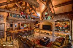 Log Home By Golden Eagle Log Homes - Display Cabinets