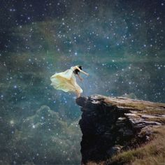 . under the stars, sky, dream, new life, the edge, leap of faith, artist, starry skies, starry nights