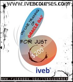 IVEBcourses.com presents Oracle OAF online classes for only $200. for more info http://www.ivebcourses.com/demo-for-online-training.html click the link , leave your details , know your trainer , excel in oracle OAF