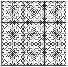 Blackwork Star Fill Pattern