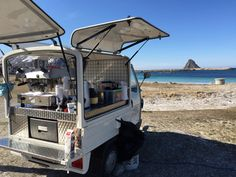 Our coffee van on the Bleik beach in Andøya, Norway. #stromeriksen, #kaffehuset