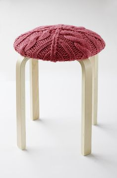 I have a stool that needs recovering and a sweater that ripped on one side :)