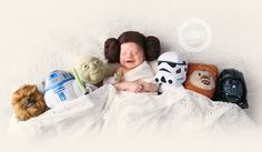 Star Wars newborn photo  |  Princess Leia baby  |   Newborn Photography in Noblesville, IN and Indianapolis, IN and surrounding areas. Hamilton County Newborn Photographer Newborn Photography  www.ABilgerNEWBORNS.blogspot.com