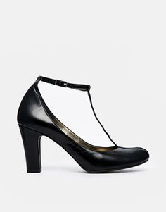 Shoesissima Tara T-Bar Block Heeled Shoes 'Available from UK 8-12'