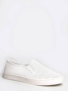 white perforated ARVON SNEAKER