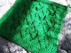 Ravelry: Elvish Leaves Dishcloth pattern by Kelley