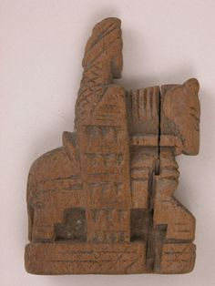 Chess piece, 7th–8th century. Egypt. Wood. The Metropolitan Museum of Art, New York,