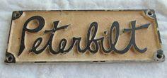 vintage PETERBILT nameplate, emblem. $22.00, via Etsy.