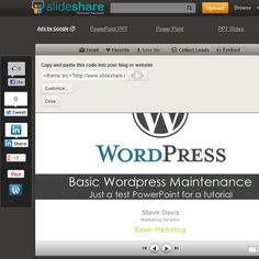 How to use Slideshare to embed PowerPoint files on your Wordpress site Power Point Ppt, Google Powerpoint, Save File, I Can, Wordpress, Presentation, Coding, Ads, Marketing
