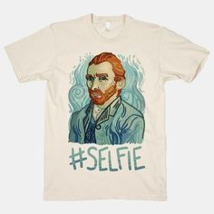 Let the world know who really invented the selfie with this art history-inspired shirt. The perfect gift for any art lover, art history buff, or  pun loving friends.   Free U.S. shipping on orders over $50. Now through this Sunday April 10th get 20% off everything site-wide!