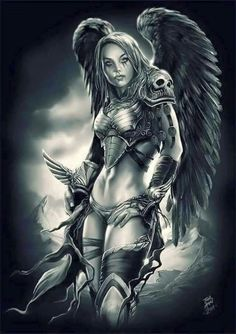 dark angels Source by Dark Fantasy Art, Fantasy Kunst, Fantasy Women, Fantasy Girl, Fantasy Artwork, Fantasy Art Angels, Dark Angels, Angels And Demons, Gothic Angel