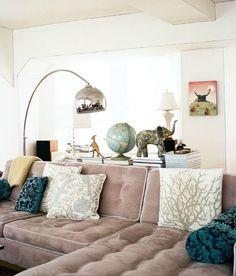 Velour sofas