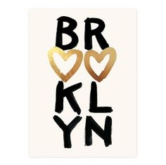 home is where the heart is - brooklyn print from Pink Olive - $50.00