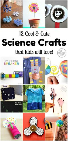 12 Cool and Cute Science Crafts that Kids will Love! – Go Science Kids 12 Cool and Cute Science Crafts that Kids will Love! – Go Science Kids Science Activities For Kids, Preschool Science, Science Experiments Kids, Craft Activities, Science Fun, Science Ideas, Elementary Science, Science Toddlers, Activities For 6 Year Olds