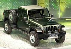 Jeep® Wrangler Pickup Gladiator 2017: WRANGLER PICKUP: Jeep have confirmed the arrival date for the new Wrangler pickup.  It seems they will name it the Jeep Gladiator and there's not much to dislike about it.