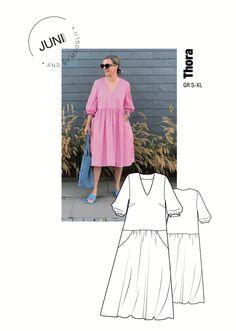 PDF Download in A4 Format!! Thora Dress... Ein Kleid mit der richtigen Portion Lässigkeit und wunderbar skandinavisch minimalistisch. Und it has… Shoulder Dress, Pink, Collection, Dresses, Design, Fashion, Short Skirts, Scandinavian, Minimalist