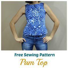 Free Sewing Pattern:  Pam Top