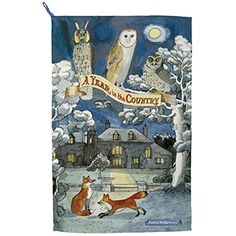 Emma Bridgewater Year in the Country Fox & Owls Tea Towel