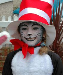 Faschingskostueme The Cat in the Hat face paint/costume Jewelry throughout Time Throughout time, man Dr Seuss Costumes, Diy Costumes, Halloween Costumes, World Book Day Costumes, Book Week Costume, Book Character Day, Dr Seuss Crafts, Village Fete, Face Painting Designs