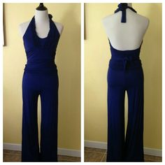 """Selling this """"Royal Blue Stretchy Jumpsuit Halter Top Style"""" in my Poshmark closet! My username is: sinde1986. #shopmycloset #poshmark #fashion #shopping #style #forsale #Arden B #Pants"""