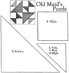 Old Maids Puzzle - Crazy Quilt Free Template Patterns | ... or four flowers would quilt nicely on the alternate plain squares