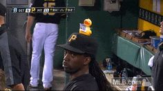 What? You've never seen a rubber duck on top of an MVP's hat before?